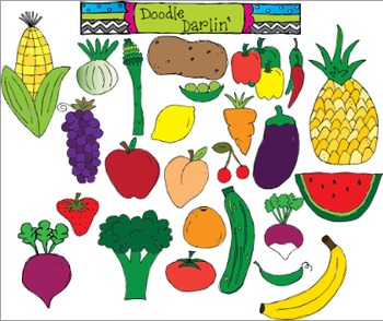 Produce Palooza Clipart Set
