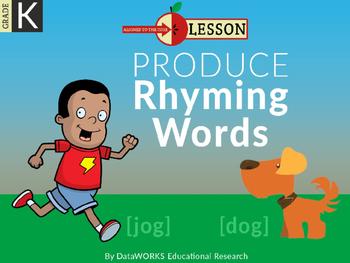Produce Rhyming Words - Long Vowels