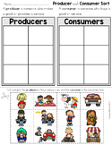 Producer and Consumer Sort Worksheet Distance Learning
