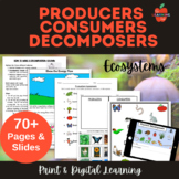 NGSS LS2: Producers, Consumers, Decomposers - Lessons, Wor