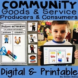 Economics - Producers, Consumers, Goods and Service Digital and Printable