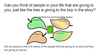 Producers & Consumers Through The Giving Tree Lesson 2