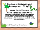 Producers,  Consumers, and Decomposers, OH MY!  SCOOT CARDS, etc