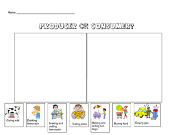 Producers/Consumers worksheet