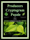 Producers (Think Photosynthesis!) Cryptogram Puzzle