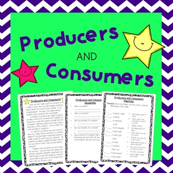 Producers and Consumers Reading Comprehension and Activities