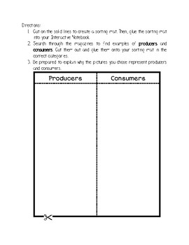 Producers and Consumers Activities