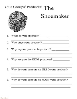 Producers and Consumers (Farmer, Baker, Shoemaker)