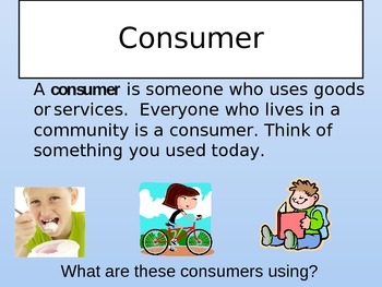Producers and Consumers Grade 1