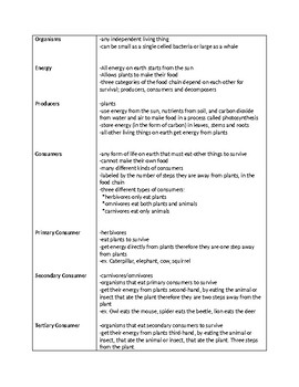 Producers and Consumers Lesson Plans and Notes