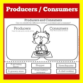 Producers and Consumers | Activity Worksheet | Kindergarte