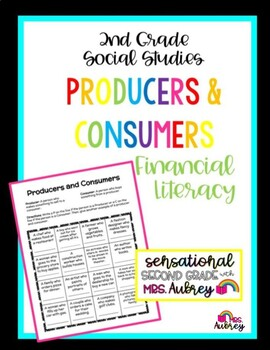 producers and consumers worksheet 2nd grade social studies financial literacy. Black Bedroom Furniture Sets. Home Design Ideas