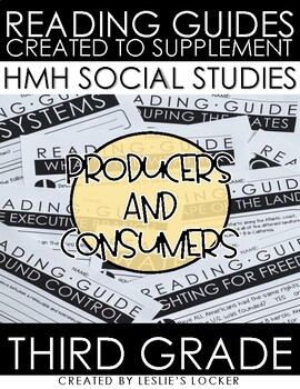Producers and Consumers aligned with HMH Social Studies Grade 3