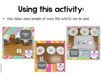 Producing Complete Sentences Sorting Cards