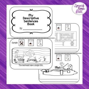 Producing Descriptive Sentences Printable Book