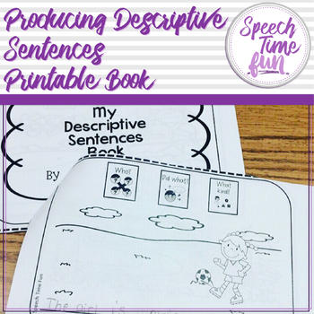 Producing Descriptive Sentences Printable Book
