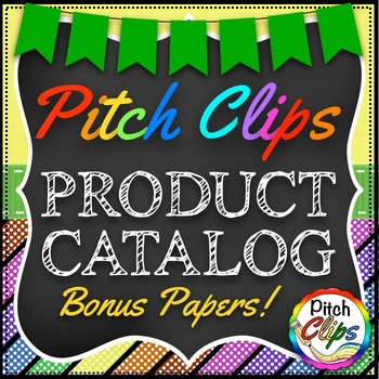 Product Catalog by Pitch Clips - PLUS digital paper BONUS!! :)