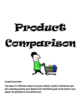 Product Comparison and Unit Cost for Middle School Students