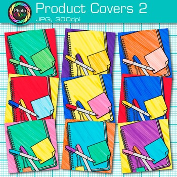 Product Cover Clip Art Bundle {Design TPT Resources - ONE BUYER ONLY}