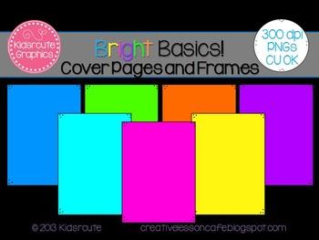 Product Cover Frames~ Bright Basics {Freebie}