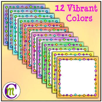 Borders Clipart Rainbow Beads