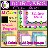 Product Cover Templates | Watercolor Bolds | Rainbow Beads