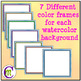 Borders Clipart Rainbow Double Scallop