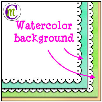 Product Cover Templates | Watercolor Bolds | Scallop Dot
