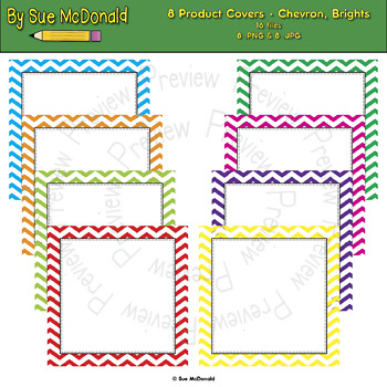 Product Covers For TPT Authors-Chevron Bright Collection - High Quality Graphics