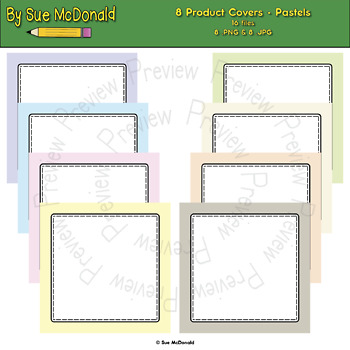 Product Covers For TPT Authors - Pastels Collection - High Quality Graphics