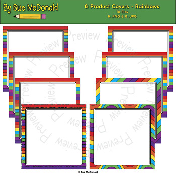 Product Covers For TPT Authors - Rainbow Collection - High Quality Graphics