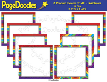 Product Covers for TPT Sellers, Rainbows - High Quality Vector Graphics