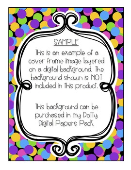 Product Covers and Borders {Creative Clips Digital Clipart}