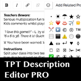 Product Description Editor Pro