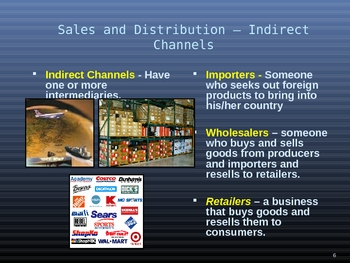 Product Development and Sales Distribution