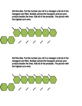 Product Dice Game