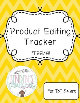 Product Editing Tracker for Sellers