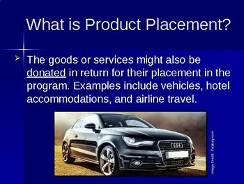 Product Placement in Television and Movies