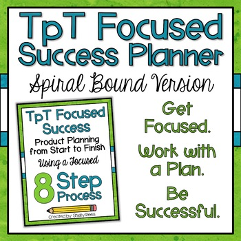 TpT Seller Product Planner Spiral Bound