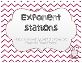 Exponents - Product, Quotient, and Power of a Power Stations
