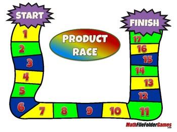 Product Race - 3rd Grade Math Game [CCSS 3.OA.C.7]