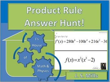 Calculus Product Rule Answer Hunt