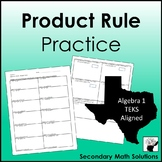 Exponents - Product Rule Practice (A11B)
