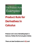 Product Rules in Calculus