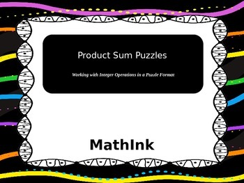 Product Sum Puzzles (Practice with Integer Operations)