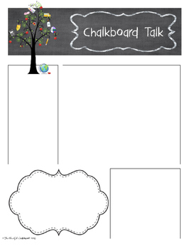 Editable Chalkboard Talk Newsletters