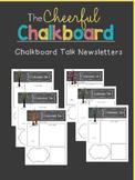 Editable Chalkboard Talk Newsletters