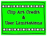 Product Usage & Clip Art Credit Links - Bonus 'AN' Rhyme Support