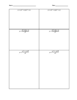 Product and Quotient Rule Activity