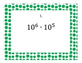 Exponents - Product and Quotient Rule Stations